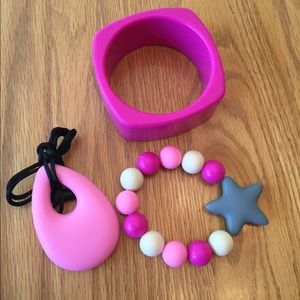 Jewelry - Silicone Teething Bracelets and Necklace